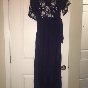 2682e639323 JessaKae Dresses - JessaKae NAVY Rosebuds   Romance Maxi Dress